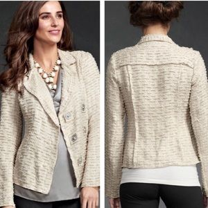 CAbi #985 Chenille Wheat Jacket/ Blazer M